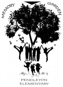 Pendleton Elementary School Memory Garden Logo